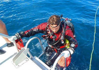 dry suit diver photo